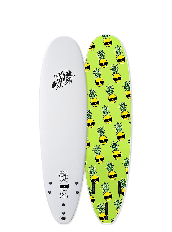 Amazon Com Wave Bandit Ben Gravy Pro Ez Rider Surfboard White 7