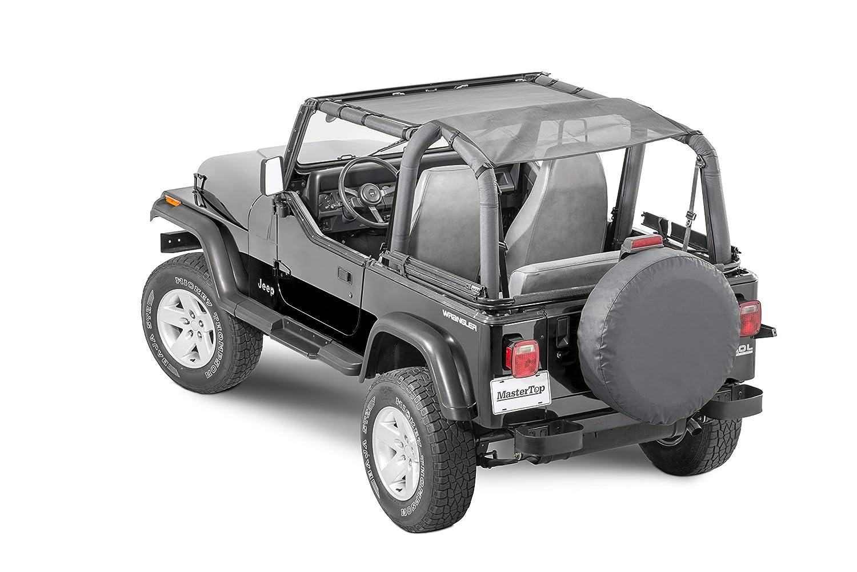 MasterTop 14220202 ShadeMaker Mesh Red TJ Bimini Plus Jeep Brief Tops