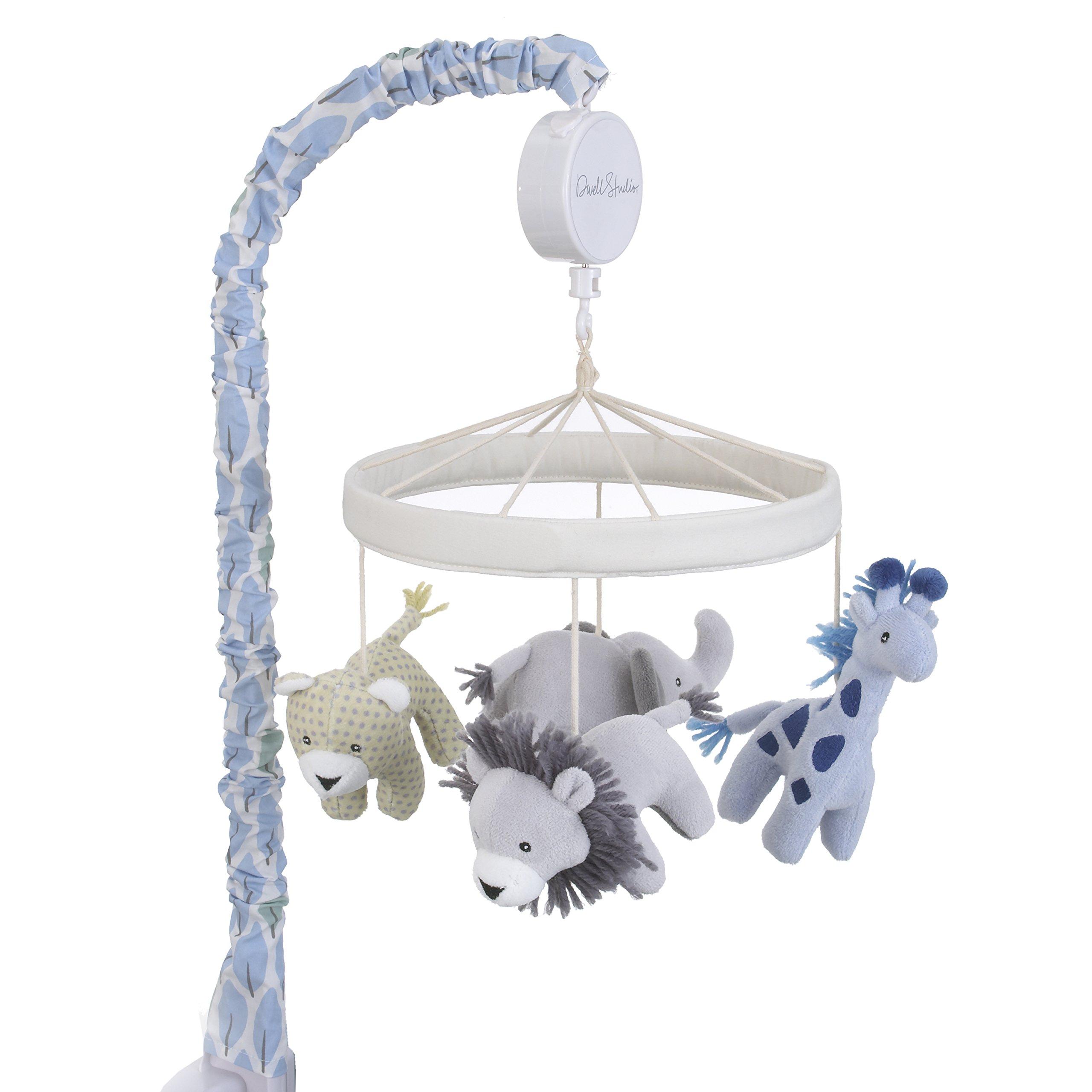 Dwell Studio Safari Skies Animal/Jungle Musical Mobile, Blue/Gray