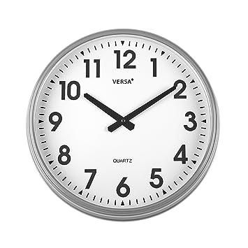 Versa 1965010 Reloj Cocina, 37 cm, Gris, 37.50x6.00x37.50 cm: Amazon.es: Hogar