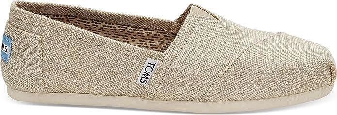 TOMS Classic Natural Metallic Damen Burlap Espadrilles Schuhe Slipons