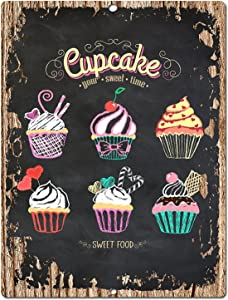 Chic Sign Dessert Cup Cake Home Kitchen Wall Decor 9