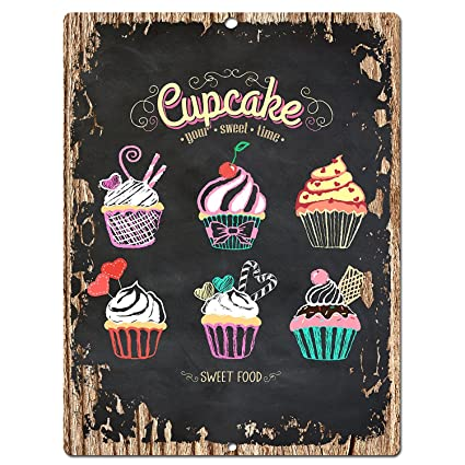 Amazon.com: Dessert Cup Cake Chic Sign Home Kitchen Wall Decor 9\