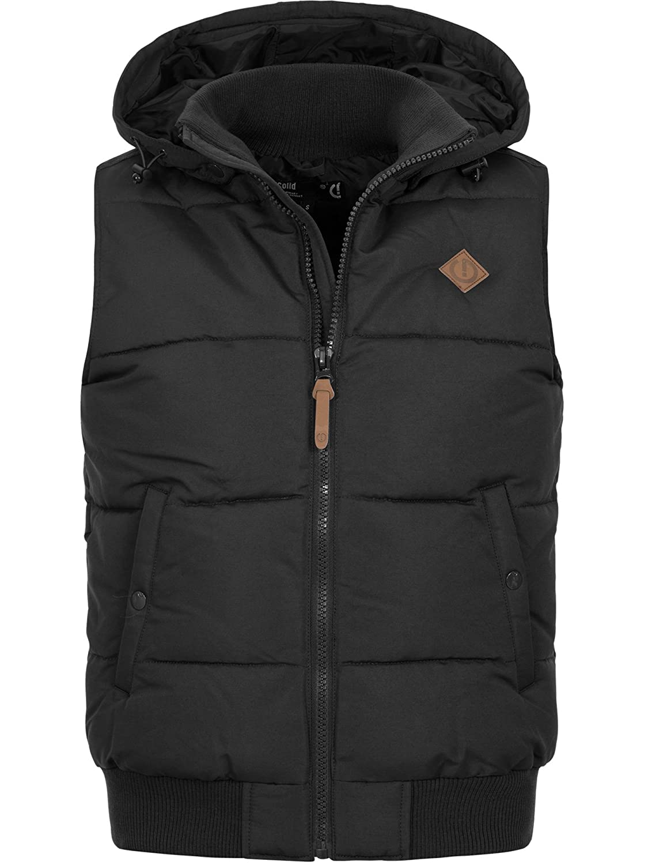 !SOLID Mens Vest with Hood Hooded Jacket Vest S M L XL XXL