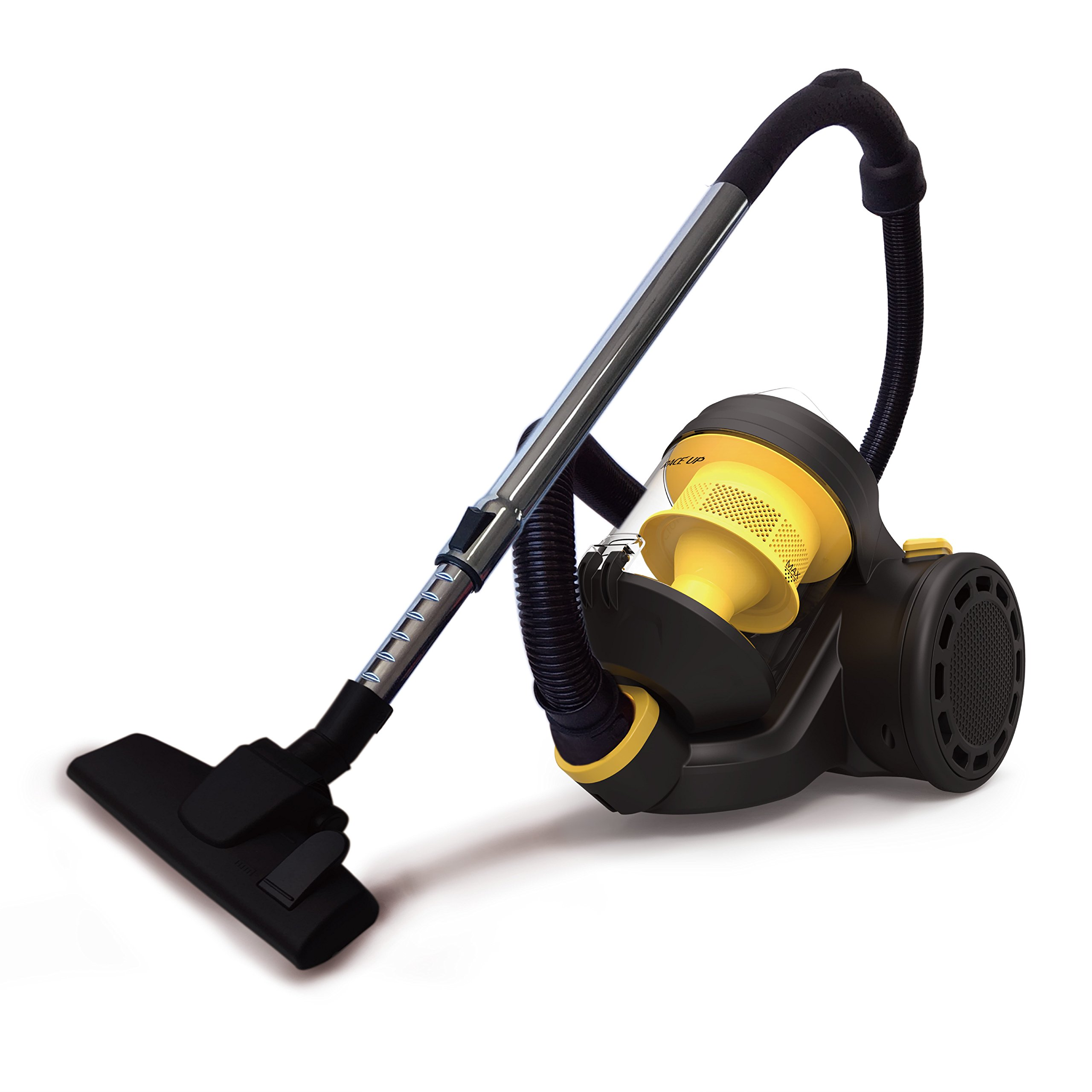 RACEUP Canister Vacuum Cleaner Cyclonic Bagless With HEPA Filter And Clean Air Filtration - Corded(CJ1150) (Yellow)
