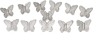 Alpha Living Home Botanical Napkin Rings Set of 12, Insect Napkin Holders, Butterfly Napkin Rings Bulk for Party Decoration, Dinning Table, Everyday, Family Gatherings - A Great Tabletop Décor
