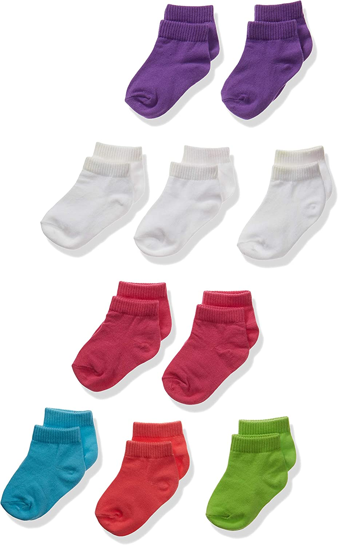 Hanes girls Ankle Socks 10-pack Casual Sock