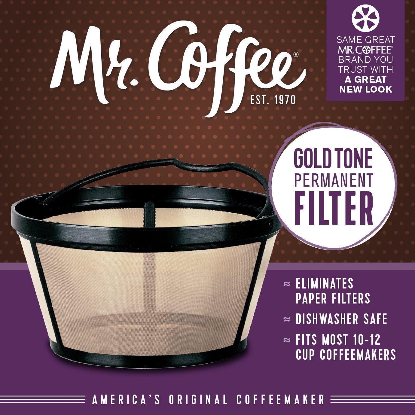 Amazoncom Mr Coffee Basket Style Gold Tone Permanent Filter
