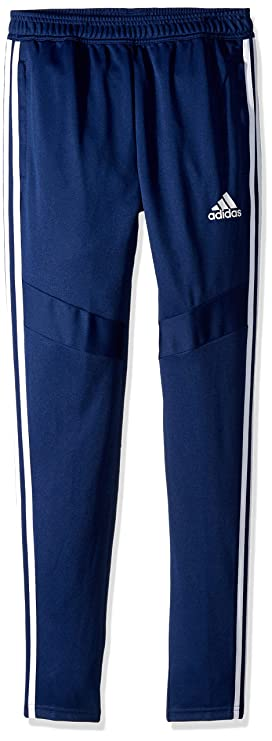 adidas Youth Soccer Tiro Training Pants, Dark Blue/White, X-Large