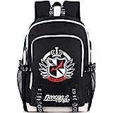 Despair Junko Enoshima Danganronpa Backpack Daypack Rucksack Laptop Shoulder Bag with USB Charging Port