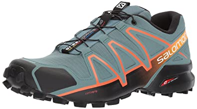 brand new 4fa15 588bb Salomon Men s Speedcross 4 Trail Runner, North Atlantic Black Scarlet Ibis,  7