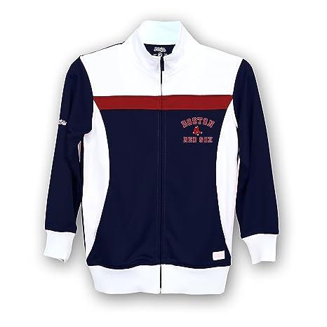 c2daebb5 Stitches MLB Boston Red Sox Girls Fashion Track Jacket, Small, Navy/White