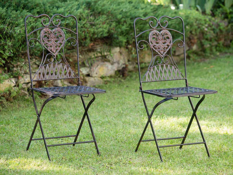 Amazon.de: Gartentisch + 2x Stuhl Eisen Antik-Stil Bistromöbel ...