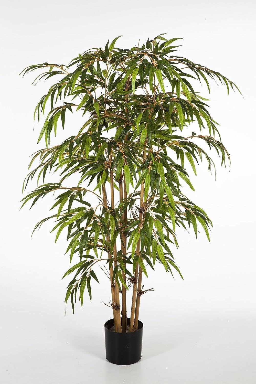 artplants - Albero di bambù artificiale HIROSHI, 800 foglie, verde, 120 cm - Bambù ornamentale / Albero decorativo