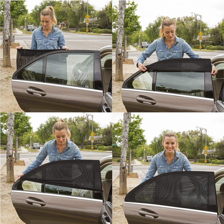 SAILINE Protegge Il Bambino dal Sole e dai dannosi Raggi UV di Grandi Dimensioni per la Maggior Parte dei Veicoli in Rete Traspirante Parasole Universale per finestrini Auto