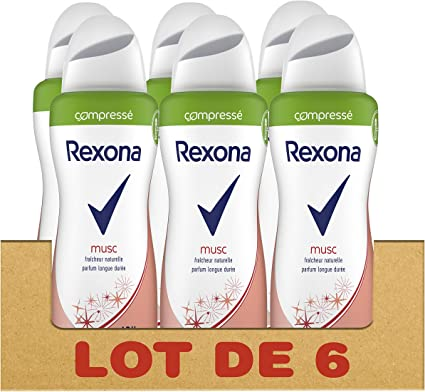 Rexona Desodorante Mujer spray almizcle comprimido 100 ml – PACK ...