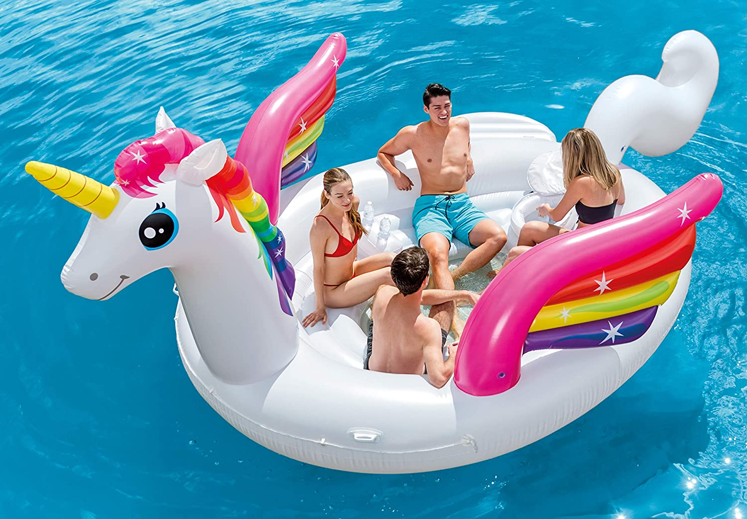 Amazon.com: Intex unicornio fiesta hinchable isla, color ...