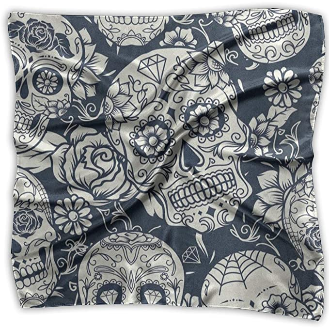 Square Scarf Day Of The Dead Sugar Skull Cool Scarves Unisex Neck Head Tie For Woman