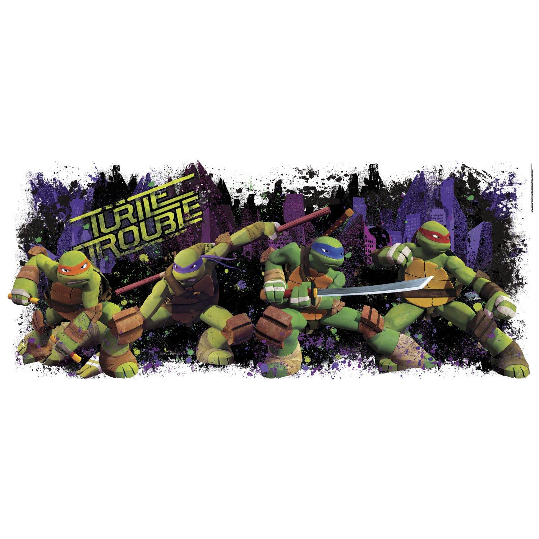 RoomMates Teenage Mutant Ninja Turtle Trouble Graphic Peel and Stick Wall Decals
