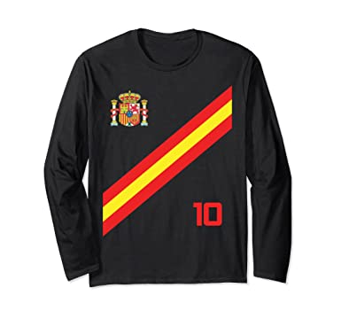 Unisex Spain Soccer Jersey Shirt World Futbol Cup Espana Barca Small Black