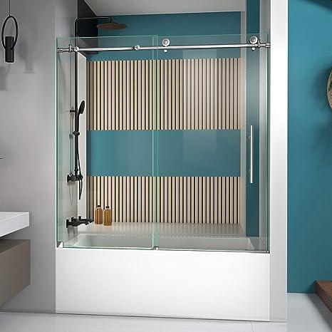Dreamline enigma-x 56 A 59 in. Sin Marco Puerta Corredera de bañera: Amazon.es: Bricolaje y herramientas