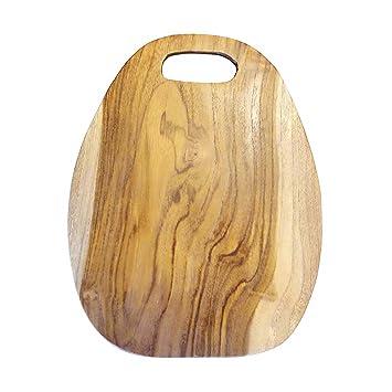 Moebel Kolonie Brotzeitbrett Holztellerschneidebrett Teakholzbrett