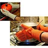 Medipaq® Long Wrist Protect Heat Proof Gloves (1x PAIR) - Hold hot dishes safely STRAIGHT from the OVEN , no more burning your WRISTS!