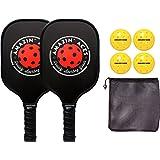 Amazin' Aces Graphite Pickleball Set - Includes 2 Graphite Pickleball Paddles, 4 Balls, 1 Mesh Carry Bag, Premium Pickleball