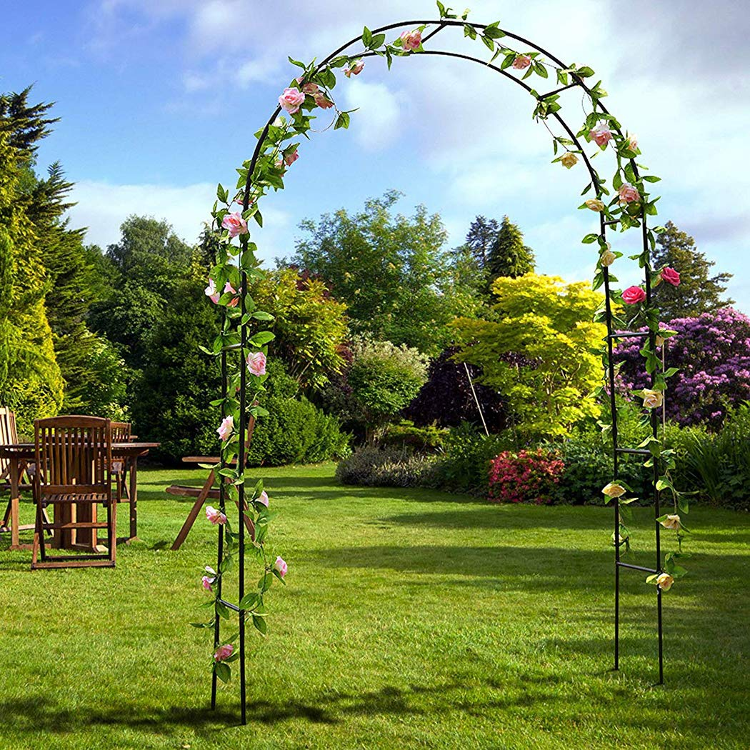 Amon Tech Garden Arch 7.5 Ft Lightweight Metal Garden Arches for Wedding Garden Bridal Party Prom Decoration Garden Arbor