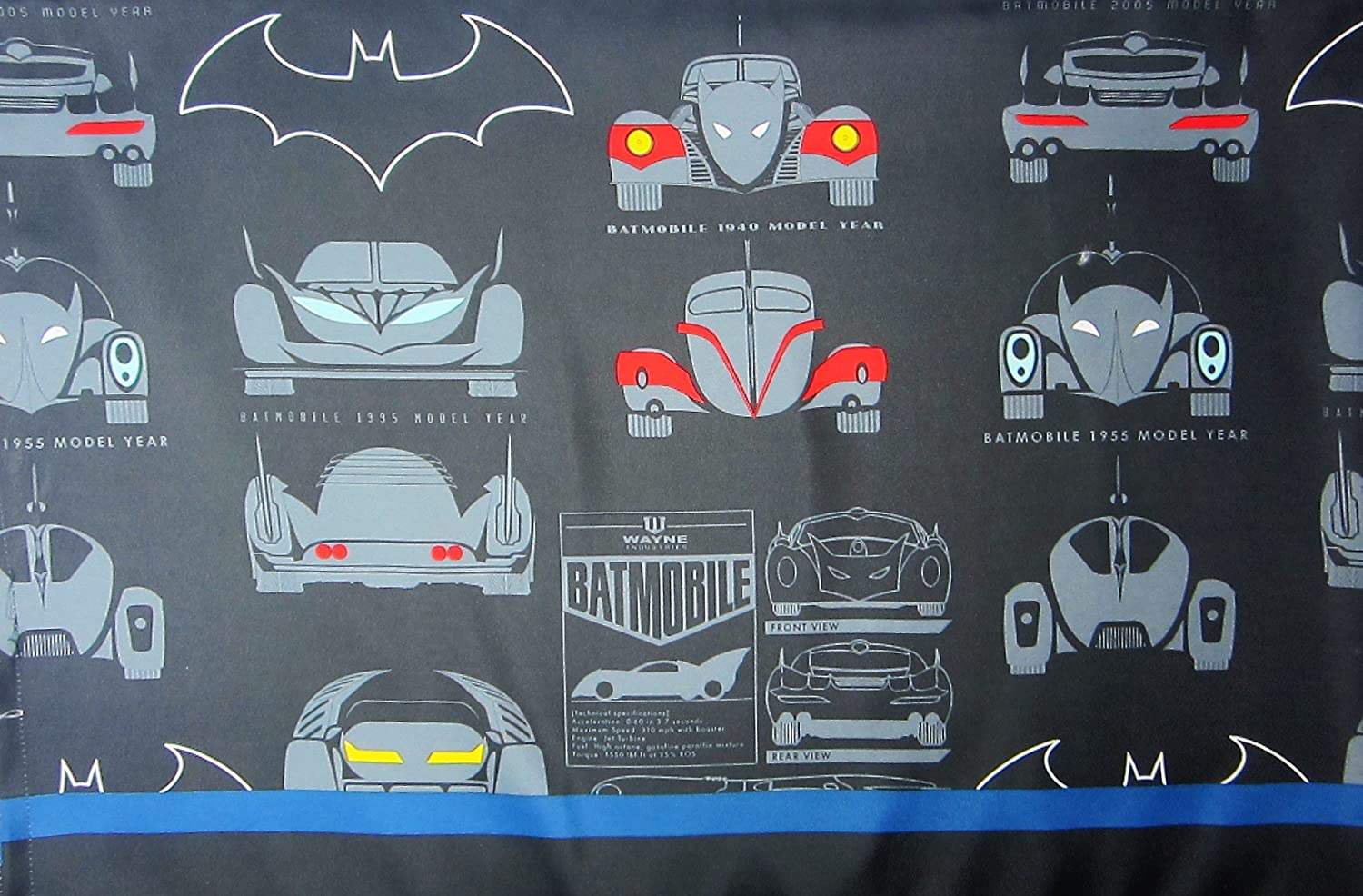 Batman Gaurdian Speed Cotton (FLAT SHEET ONLY) Size TWIN Boys Girls Kids Bedding Franco Manufacturing Co. Inc.