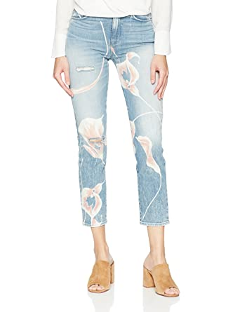 4c5daa46521 Hudson Jeans Women's Zoeey HIGH Rise DEEP Cuff Straight Crop 5 Pocket Jean,  in in