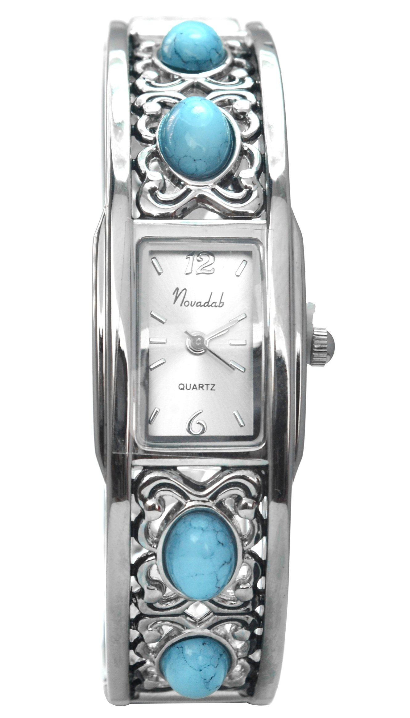 NOVADAB Baja Vintage Turquoise Beads Bangle Watch For Women