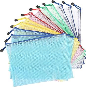 5 x A4 Dokumententasche Aufbewahrung PVC Tasche Reißverschlusstasche Zipper Bag