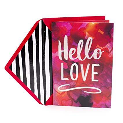Amazon hallmark 459vfe1103 mahogany valentines day greeting hallmark 459vfe1103 mahogany valentines day greeting card jill scott collection hello love m4hsunfo