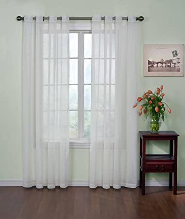 Curtains Ideas 120 inch length curtains : Amazon.com: Arm and Hammer Curtain Fresh Odor Neutralizing Sheer ...