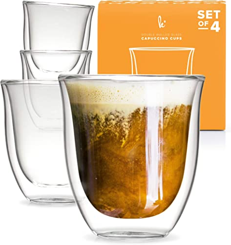 Kitchables Glass Cappuccino Cups