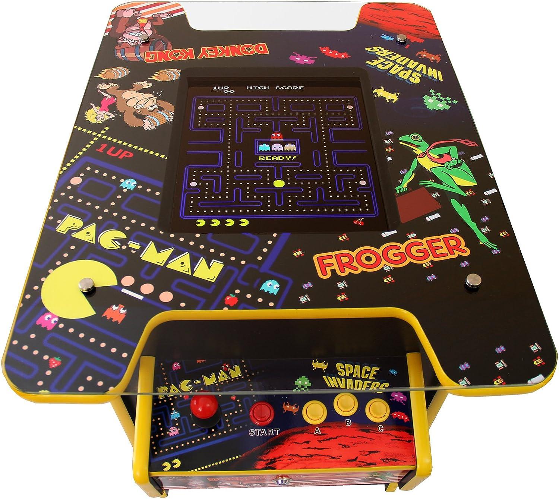 MonsterShop - Maquina Arcade en Estilo Mesa de Coctel con 60 Videojuegos 64cm x 73cm x 93cm