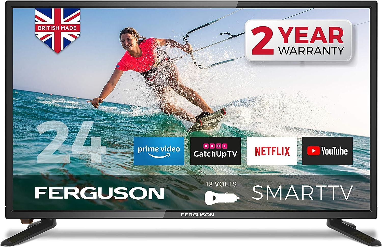Ferguson F24RTS-12V 24/″ HD Ready LED 12 Volt Smart TV with Wi-Fi Black one size