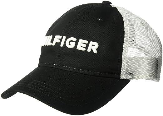 Tommy Hilfiger Mens Dad Hat Hilfiger Trucker Cap, ...