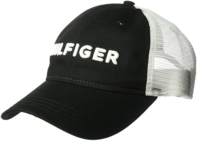 Tommy Hilfiger Men s Dad Hat Hilfiger Trucker Cap 5441c7cb5c2c