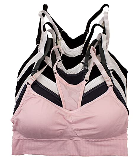 Barbras Regular /& Plus Size Wirefree Racerback Bras with Removable Pads