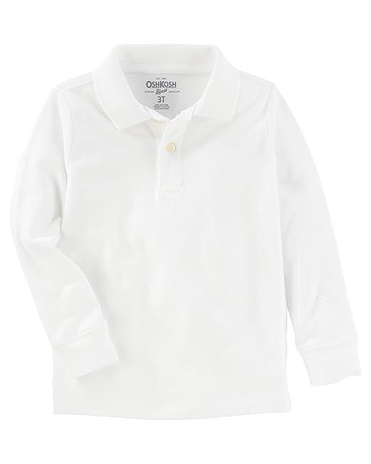 b5a585cfc OshKosh Boys' Toddler Long Sleeve Polo Shirt, white1, 5T: Amazon.ca ...