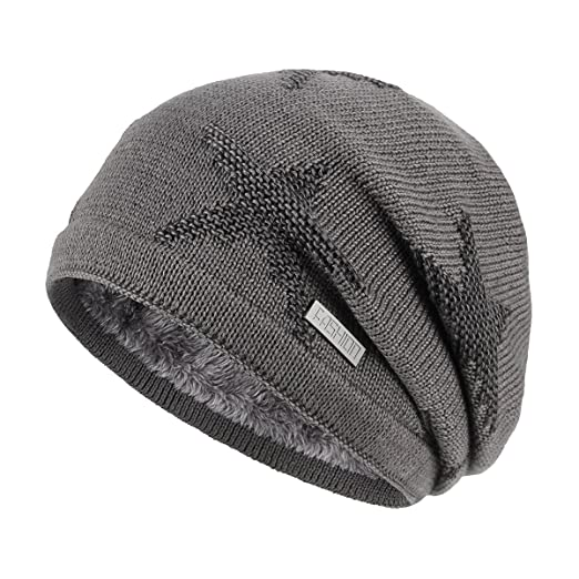 ed64c7fd159 Image not available for. Color  OMECHY Winter Knit Slouchy Beanie Hat  Unisex Daily Warm Ski Skull Cap