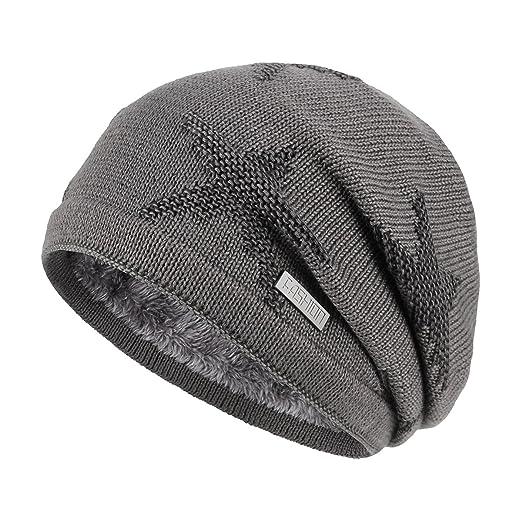 6992813605e OMECHY Winter Knit Slouchy Beanie Hat Unisex Daily Warm Ski Skull ...