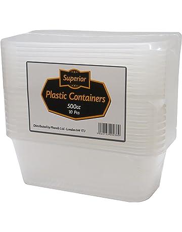 Superior de plástico Pan büchsen, congelador de microondas y – Essen recipiente y tapa Ideal