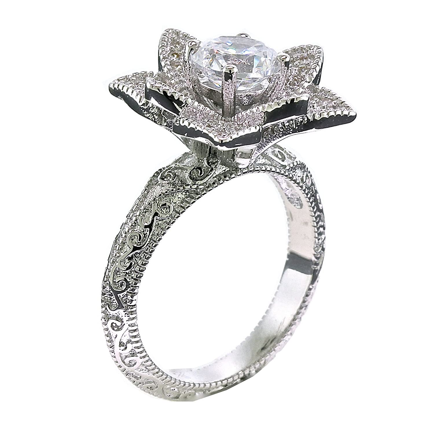 lotus products morganite rings engagement with flower ring