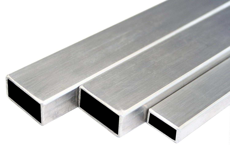 Inox tube carr/é rectangle bross/é tube de construction 30x15x2mm 2000mm