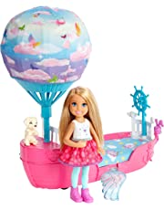 Barbie Dreamtopia, Chelsea's Dreamboat with Doll and Flapping Wings, Toy Vehicle, Gifts for Children Aged 3+ DWP59