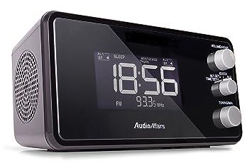 AudioAffairs Radiowecker Mit PLL UKW Lautsprecher, 2 Weckzeiten Mit  Snooze , Nap  Und