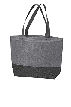 118edceeb5e0b7 Amazon.com: 6 Pack - Polyester Felt Easy-to-Decorate Tote Bag Medium Size  Sturdy Customizable Wholesale Tote Bags (Black / Felt Charcoal): Kitchen &  Dining